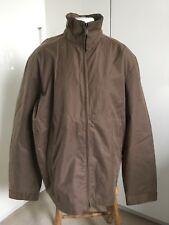 McGregor Mens Brown Outerwear Waterproof Golf Walking Jacket With Hood Large