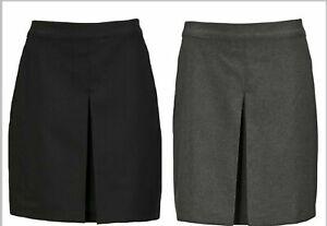 BHS Girls Smart Ladies Grey Black Single Pleat School Skirt Uniform Work Office