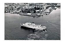 EMPRESS OF AUSTRALIA 3rd view aerial at Hobart modern digital Photo Postcard