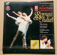 Romeo & Juliet - Prokofiev - Royal Ballet - Ashley Lawrence - PAL LaserDisc OVP