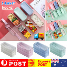 3-Layer 900ml  Bento Box Students Lunch Box Eco-Friendly Leakproof Food Contain