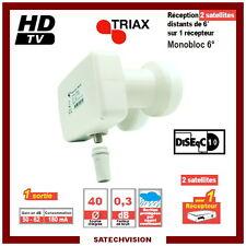 LNB Monobloc Single 6° Triax TMB 002 0,3 dB Gain 62 dB Full HD 3D Ready