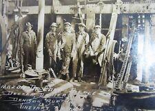 Vintage Oil Well Drilling Photo Roughnecks Amazon Corp Crew Pierce #6 Ca 1920's