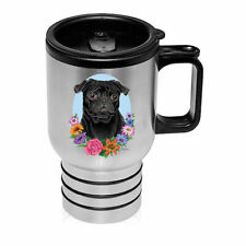 Pug Black Stainless Steel 16oz Tumbler