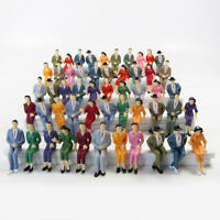 48pcs G scale Figures 1:25 All Seated Painted People 4 Poses Model Railway