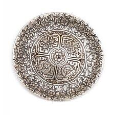 Aluminium Tibetan Round Flower Incense Burner Holder for Cones & Sticks