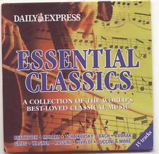 ESSENTIAL CLASSICS: 15 TRACK PROMO CD - DVORAK BACH FAURÉ ROSSINI GRIEG PUCCINI