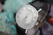 Vintage HAMILTON Cal. 770 Diamond Mystery Dial 14K Solid White Gold Dress Watch