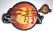 """SERENITY/FIREFLY LOGO PATCH SET OF 2- 11"""" JACKET & 4.5"""" LOGO (SEPA-005JP)"""