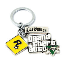 GTA 5 Grand Theft Auto V Enamel Keychain Key Ring Pendant Collect Hangings Gift