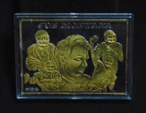 JOE MONTANA SAN FRANCISCO 49ERS ENVIROMINT 999 SILVER CARD W/ 24KT GOLD  1 / 500