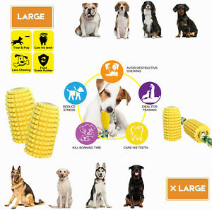 1PC Dog Corn Shaped Toys Pet Puppy Chew Toy Gift Set Durable Rubber Clean Teeth