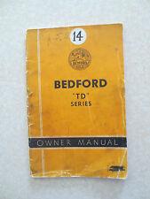 Original 1950s Bedford TD truck owners manual - Australia GMH