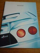 ECOSSE BY ASCARI  (BMW V8 ENGINE) VERY OVERSIZED CAR BROCHURE 1999 2000 MODELS