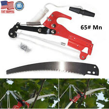 Pro Extendable Tree Pruner Branch Scissors with Saw Ropes Garden Cutting Tool US