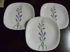 """3 Block FLORAL PORTRAITS Switzerland Bread Butter Plates""""Pensterophyllus""""#0073D"""