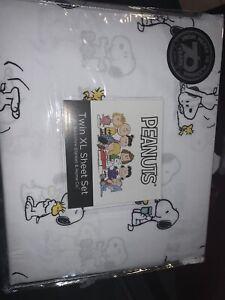 Peanuts Twin Xl Sheet Set