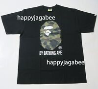 * A BATHING APE Men's 1ST CAMO BY BATHING TEE Black x Green Size XXL Japan New