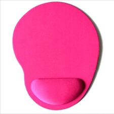 Pink mouse mat with wrist rest support