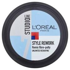 2 x L'Oreal Studio Style Rework Remix Fibre Putty 150ml Each Mens Hair Styling