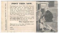 Germ Lubricants + Austin 10 Publicity Advertising postcard