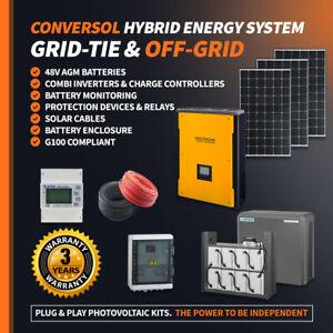 Hybrid Grid-Tie & Off Grid 5.5kW System Inverter with Energy Storage 8kWh