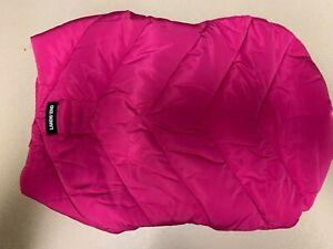 Dog Pink Puffer Jacket Land's End Medium New