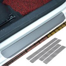 4x 3D Carbon Fiber Car Door Plate Sill Scuff Cover Anti-scratch Sticker Trim