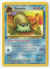 Pokemon 1st Edition Fossil set Omanyte 52/62 common NM Condition