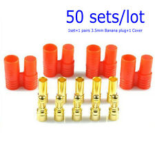 50 set di  Banana connettore a bullet con alloggiamento per ESC Lipo battery