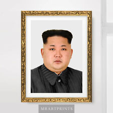KIM JONG UN NORTH KOREA PORTRAIT Art Print Poster Korean Leader Juche Picture