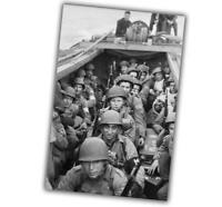 """War Photo invasion of Normandy in Operation Overlord WW2 Glossy """"4 x 6"""" inch β"""