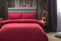 Belledorm 100% Brushed Cotton Flannelette Bed Linen In Red All Sizes 175gsm
