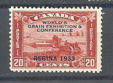 "Canada mint Hinged Scott # 203 ""overprint"" red 20 cent."