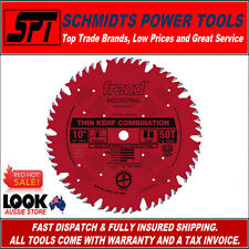 """FREUD INDUSTRIAL 50T 10"""" 250mm COMBINATION MITER & TABLE SAW BLADE ATB LU83R010"""
