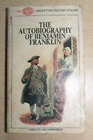 1968 The Autobiography Of Benjamin Franklin Paperback