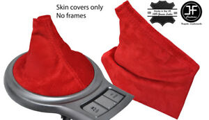 RED SUEDE SHIFT&E BRAKE BOOT FOR SCION FR-S SUBARU BRZ TOYOTA GT86 2012-2017