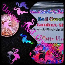 FLAMINGO SHAPE GLITTER Holo/Neon~Nail•Acrylic•Gel•Body Art•Face•Festival