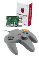 Fo Nintendo 64 n64 Pad de juego controlador analógico para Retropie Pi3 Frambuesa PC MAC