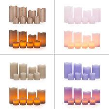 8 LED Echtwachskerzen mit Timer 4 Stumpenkerzen 4 Teelichter Kerzen mit Batterie