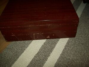 ONEIDA FLATWARE SILVERWARE WOOD STORAGE BOX CHEST WITH DRAWER