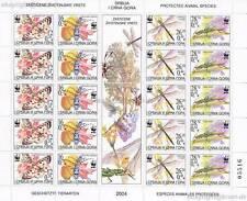 Jugoslavia - 2004 WWF INSECTS INSETTI Bugs 3173-76 piccoli archi **