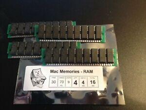 4x 4MB 30-Pin 9-chip 70ns Parity FPM Memory SIMMs 16MB Apple RAM Macintosh II