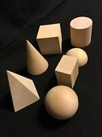 Wooden Geometric Solids 3D Shapes Learning Resources Cognitive Toys New