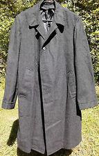 Men's Vintage Penneys Towncraft long black winter heavy coat sz 42 USED jackets