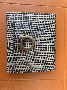 Authentic BLACK GREY SALVATORE FERRAGAMO Gancini Coin Purse Wallet
