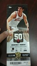 CHICAGO BULLS JERRY SLOAN HARD TICKET STUB MIAMI HEAT