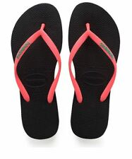 Havaianas Slim Women Logo Pop-up Flip Flop Sandals Blue Pink Black Coral