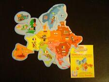 Magnets Brossard Europe Savane carte complète de 16 magnets neufs