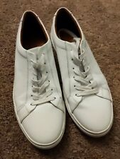 New Republic by Mark McNairy Kurt Leather Sneaker Mens 12 Minimal White Low